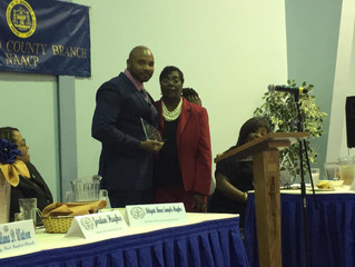 Founder Chucky Smiley receives Community Service Award from Wicomico County NAACP Branch 7028