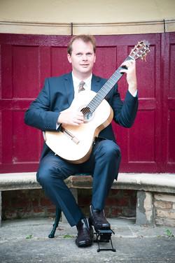 Wedding Guitarist in gazebo