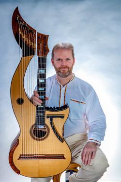 Jon Pickard with Harp Guitar