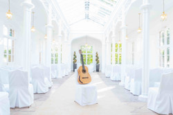 Guitar at St Audries Park wedding