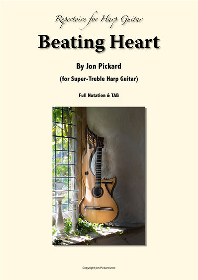 Front page of Harp Guitar Score
