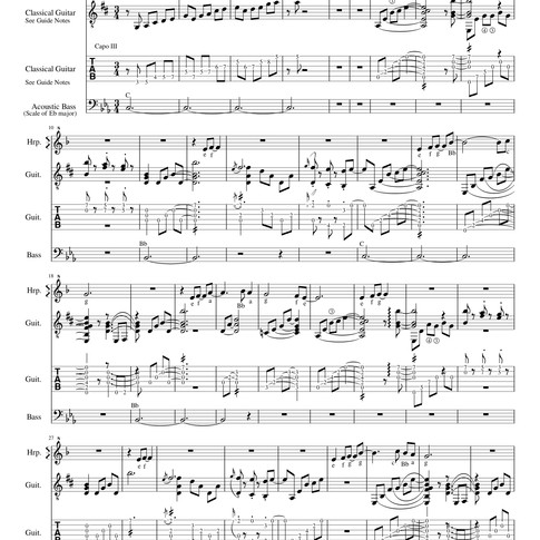 In The Garden Of Dreams score + TAB page