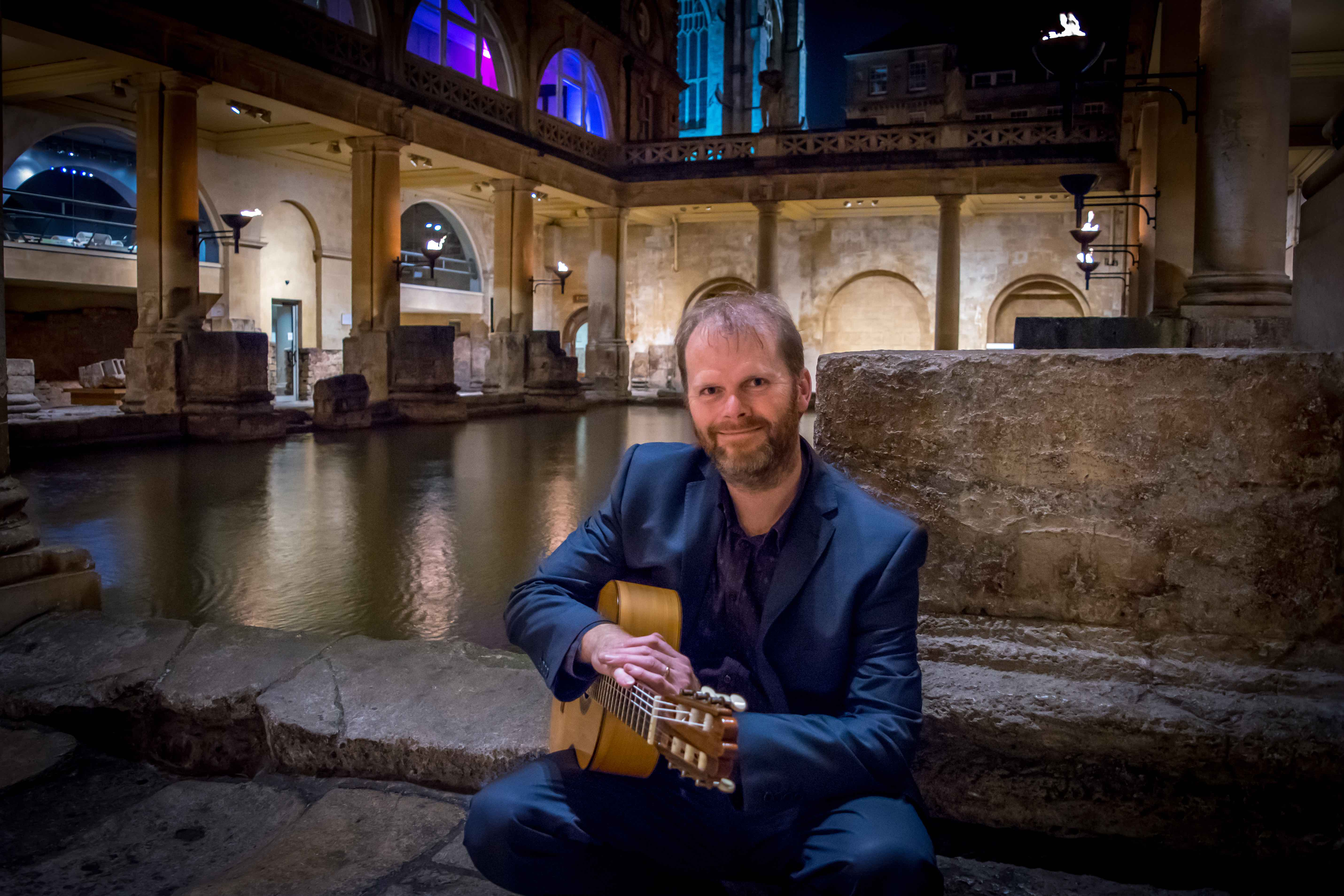 Wedding Guitarist in Roman Baths