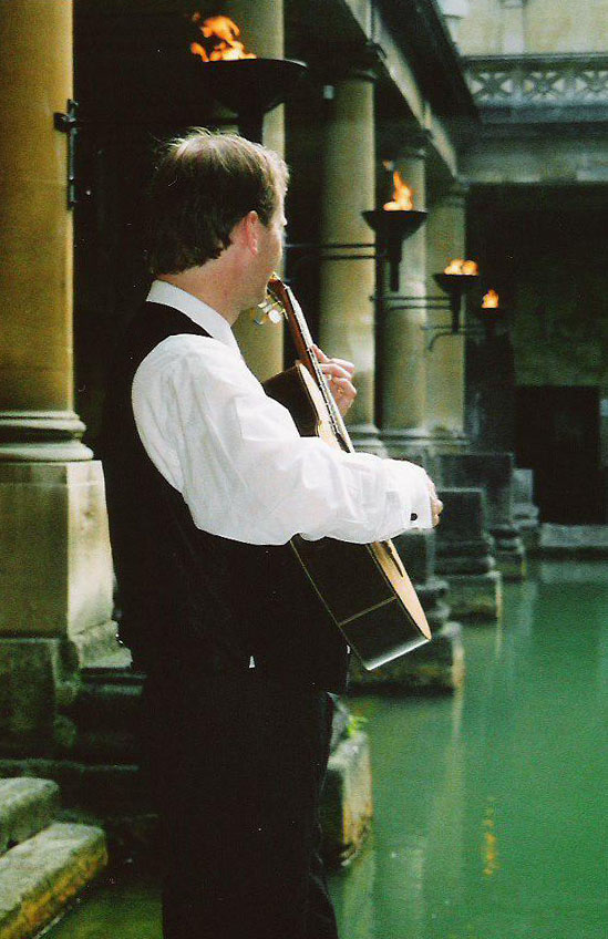 Guitarist in Roman Baths