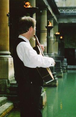 Guitarist in Roman Baths