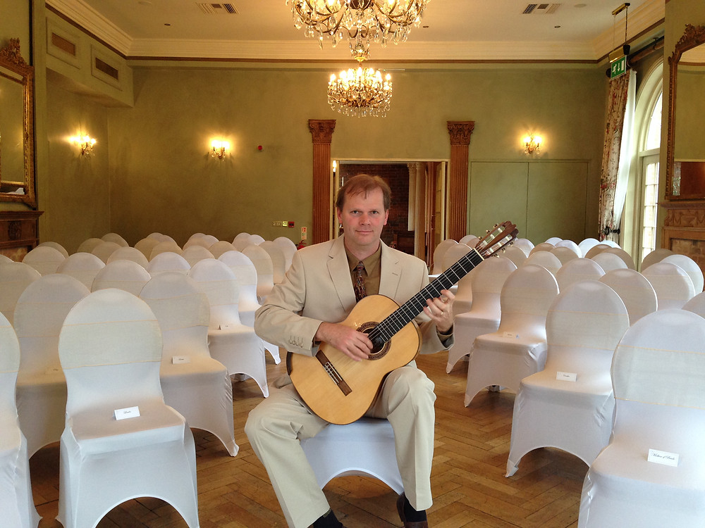 Guitarist at wedding ceremony