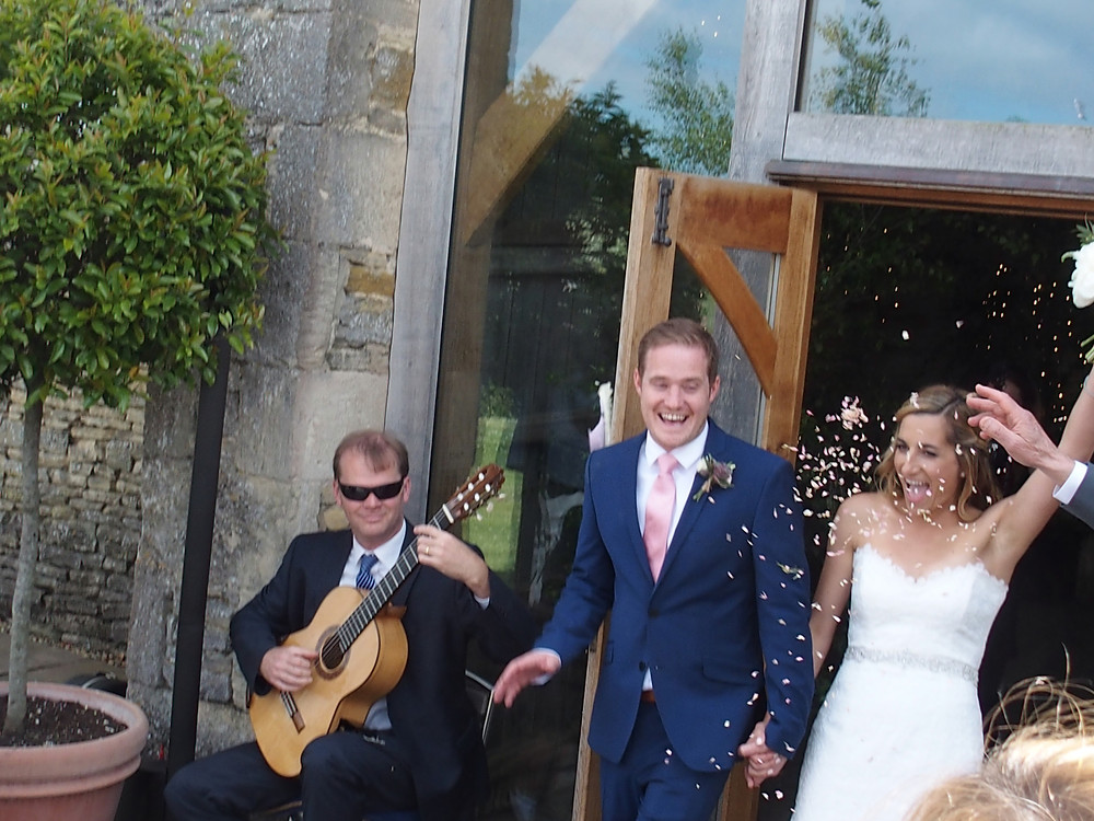 Wedding Guitarist plays for Exit from Ceremony