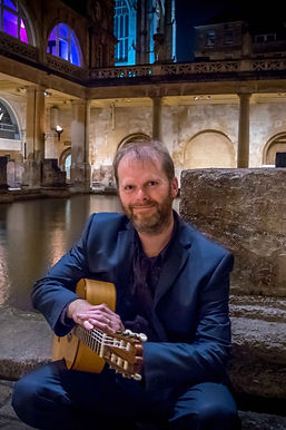 Wedding guitarist at Roman Baths