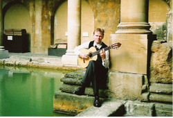 Jon with Guitar in Roman Baths