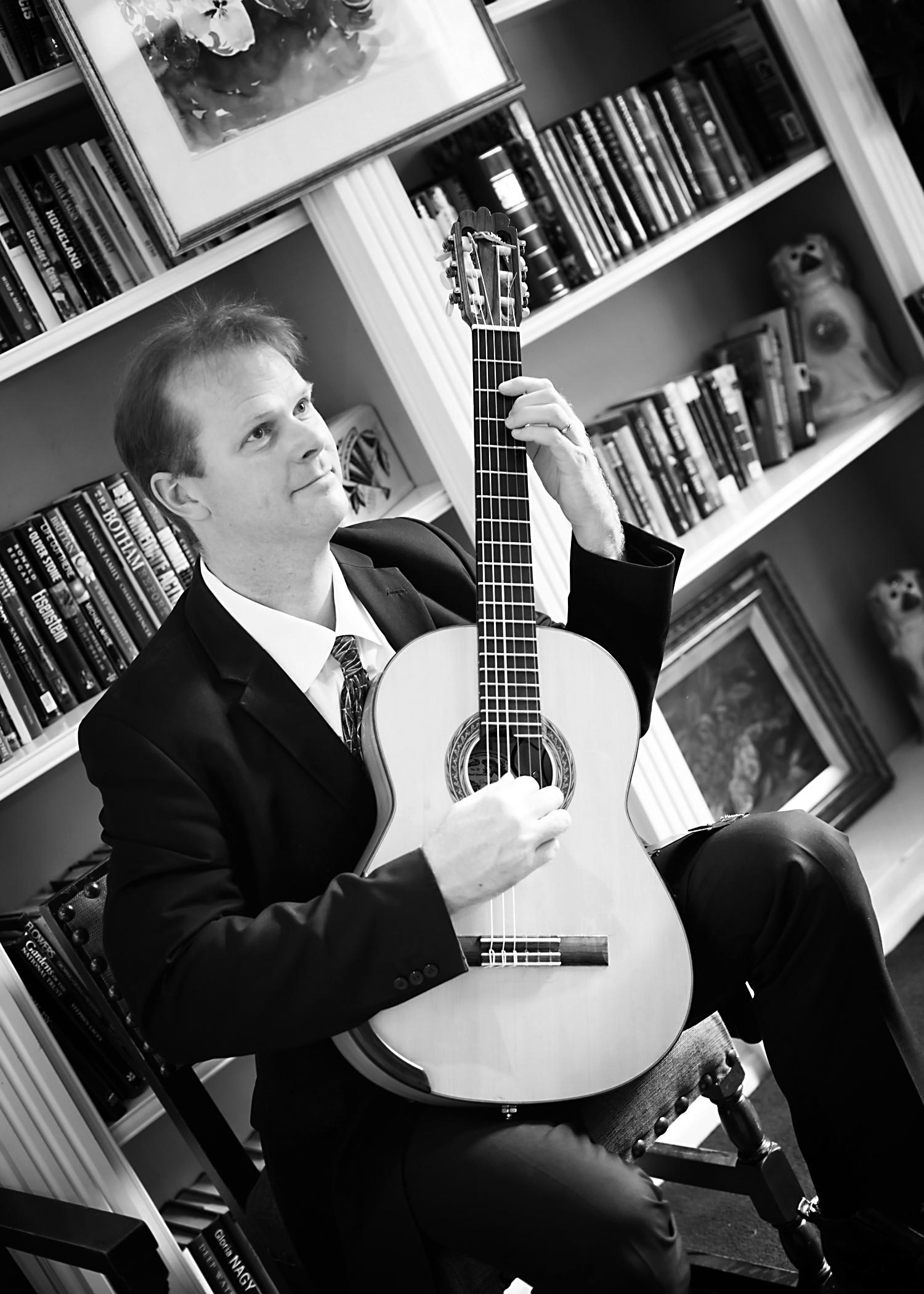 Guitarist playing wedding ceremony