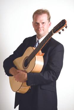Professional guitarist portrait