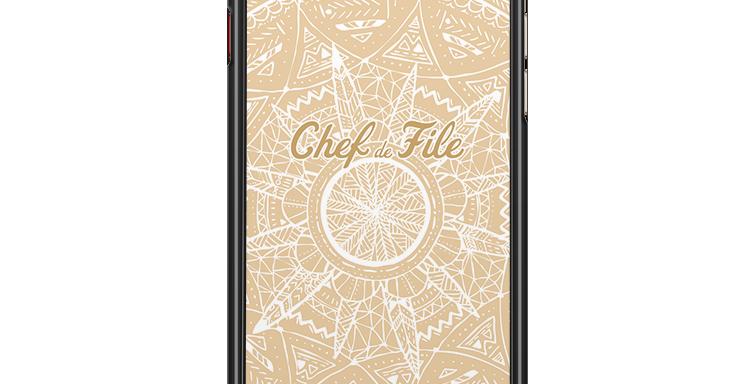 Coque de protection de téléphone Mandala Sable