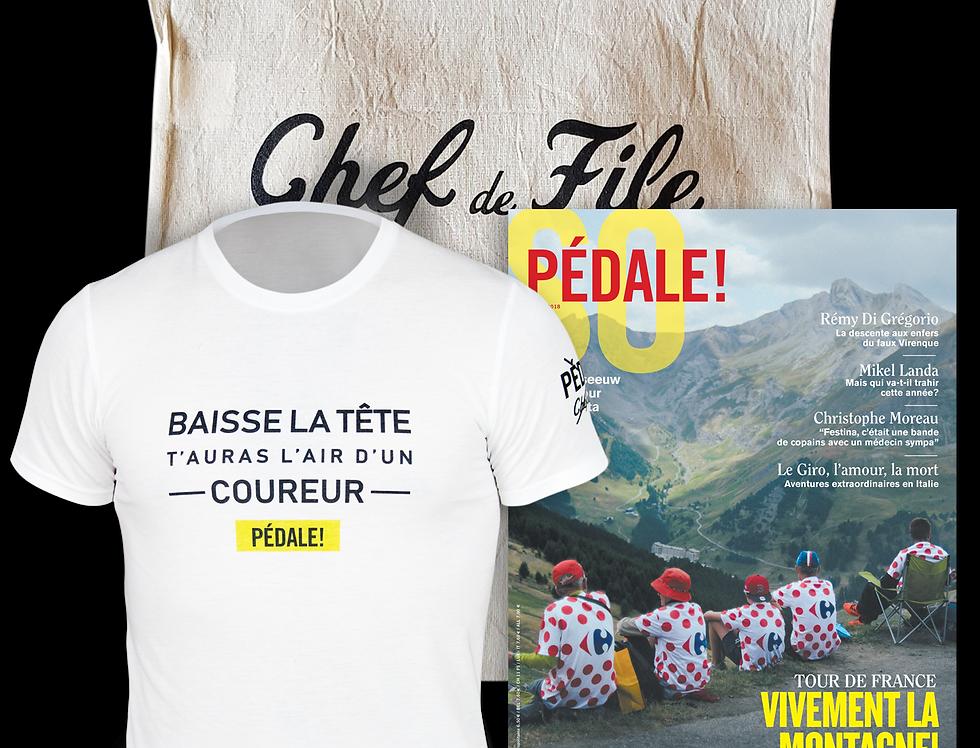 Musette T-Shirt Pédale! du directeur sportif