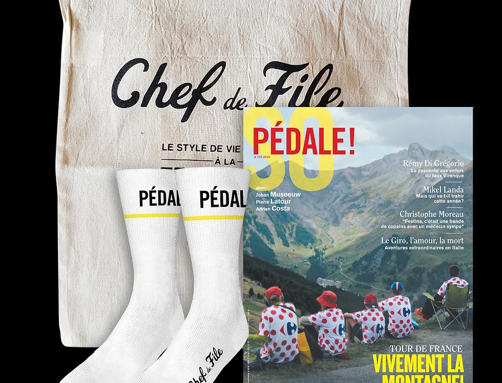 Musette chaussettes du coureur Pédale! x Chef de File