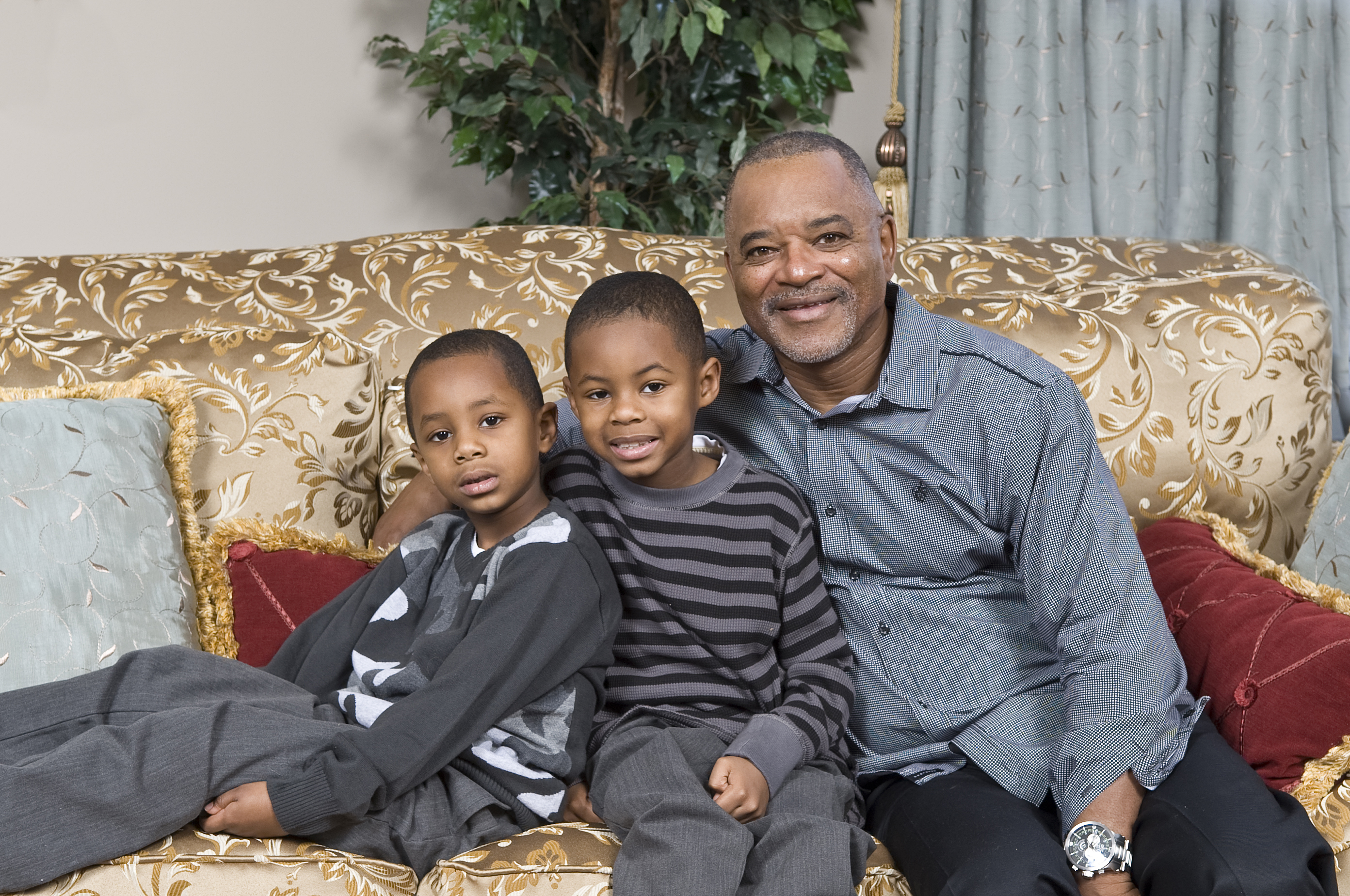 Grand Father and two grand sons