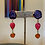 Thumbnail: Druzy Gemstone Drop Earrings