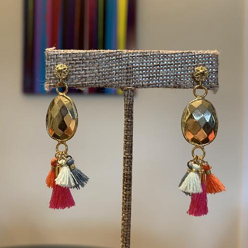 Micro Multi Tassel Dangle Earrings