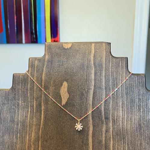 Petite Crystal Flower Mini Necklace