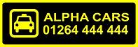 Alpha Cars Andover Taxi Logo