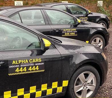 Alpha Cars Andover Taxi Service Fleet