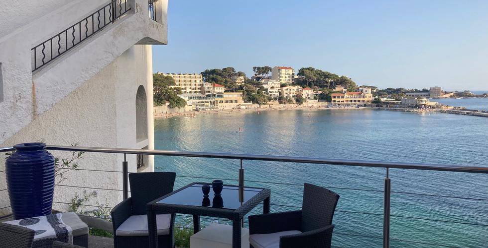 Terrasse n°2 avec vue mer