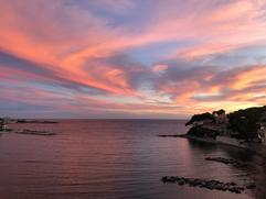Coucher de soleil sur la Baie de Rènecros, été 2020