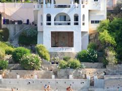Vue de la maison depuis la plage de Renécros