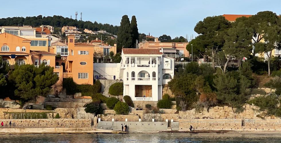 Vue de la maison depuis la rade en face, 2020