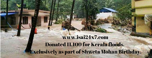 Donated 11,000 for Kerala floods. www.is