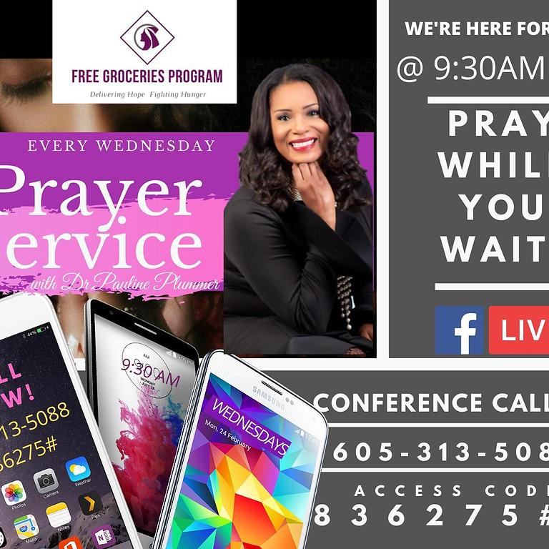 FREE GROCERIES & PRAYER SERVICE