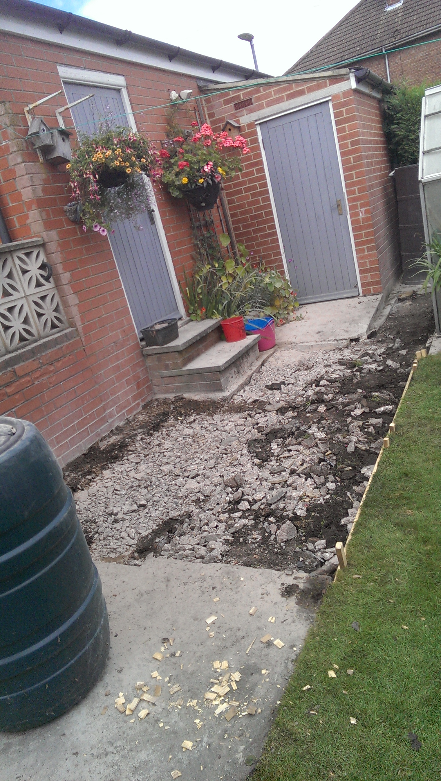 Crazy Paved Concrete Path