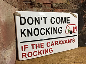 Don't come knocking if the caravans rocking. Love Ceramics