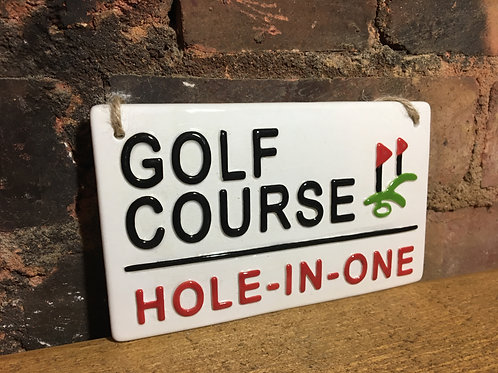 Love Ceramics London street signs-Golf Course Sign