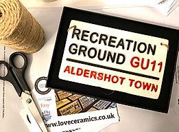 Love Ceramics-Aldershot Town Street Sign
