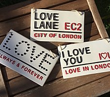 LOVE CERAMICS-London street signs-Love In London.