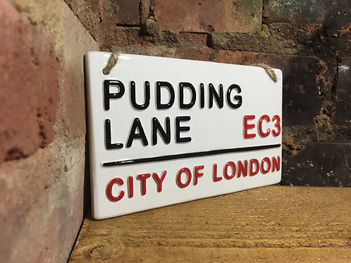 pudding lane London street sign