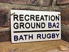 Bath Rugby London Street Sign