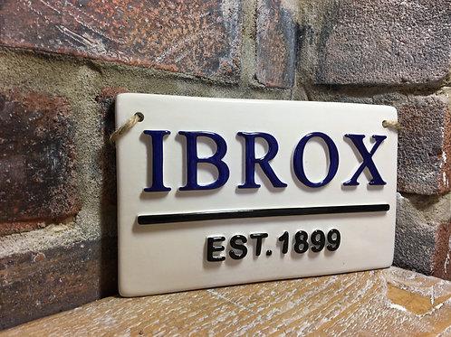 IBROX-Rangers Street Sign