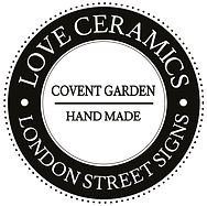 LOVE CERAMICS-London Street Signs. We are a small family business. Creating beautiful high quality, ceramic signs.
