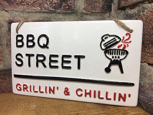 love ceramics-London street signs-BBQ Street