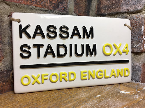 OXFORD Utd-Football Street Sign