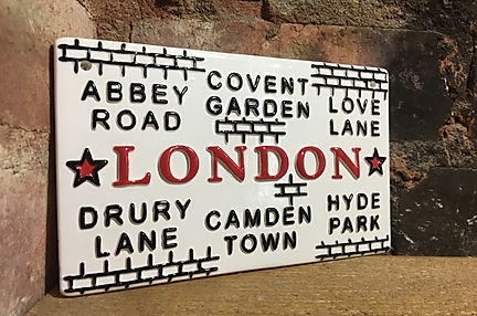 Love Ceramics-London Street Signs. Londons favourite Streets