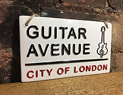 Guitar Avenue-Love Ceramics-London Street Signs