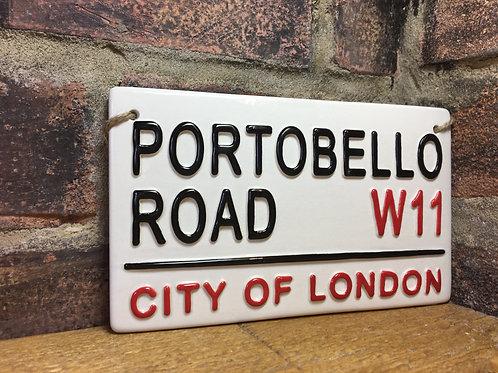 Potobello Road-London Street Sign