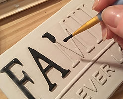 Love Ceramics-London Street Signs. Hand painted ceramic, Family Street Sign.
