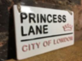 Love Ceramics- London Street Sign-Princess Lane