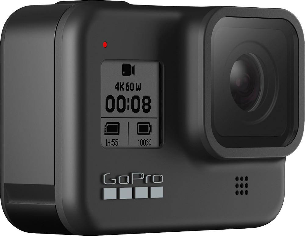 GoPro Hero8 Black powered on