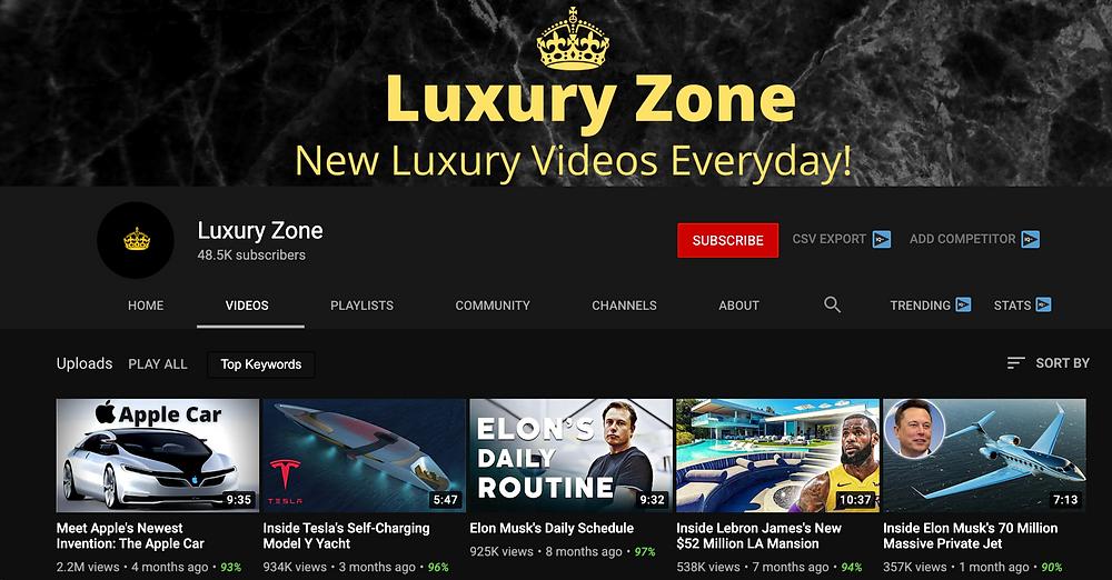 Luxury Zone YouTube Channel