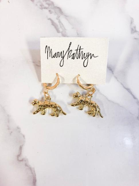 Tiger Body Huggie Earrings