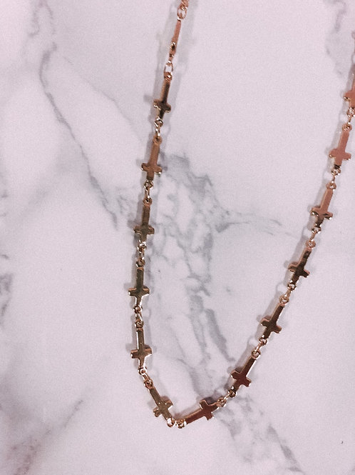 Gold Cross Chain